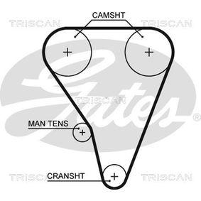 Комплект ангренажен ремък 8647 17012 TRISCAN
