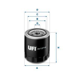 UFI NISSAN X-TRAIL Filtro de aceite (23.127.00)