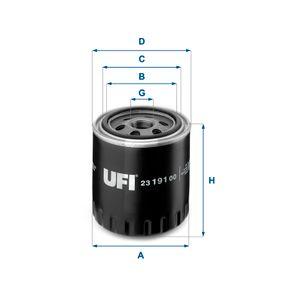 UFI Ölfilter (23.191.00) niedriger Preis