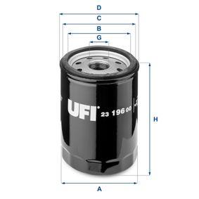 7689285 pour FIAT, ALFA ROMEO, IVECO, LANCIA, Filtre à huile UFI (23.196.00) Boutique en ligne