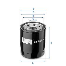 UFI HONDA CIVIC Motor del limpiaparabrisas (23.265.00)