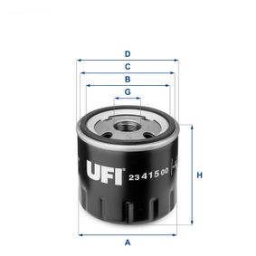 Cowling, radiator fan (23.415.00) producer UFI for FIAT PANDA (169) year of manufacture 09/2003, 60 HP Online Shop