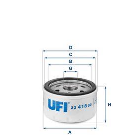CLIO II (BB0/1/2_, CB0/1/2_) UFI Motorölfilter 23.418.00