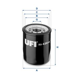 UFI Rubber strip, exhaust system (23.438.00)