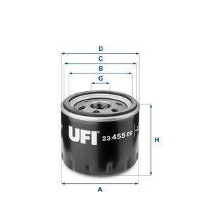 UFI Oil Filter (23.455.00) at low price