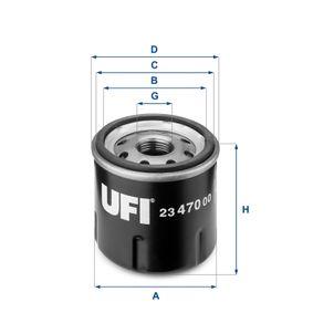 UFI RENAULT TWINGO Ölfilter (23.470.00)