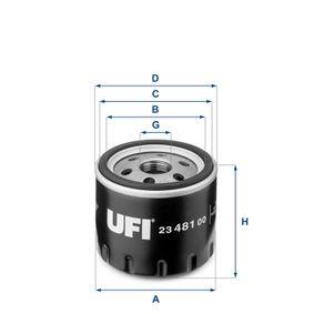 UFI Ölfilter (23.481.00) niedriger Preis