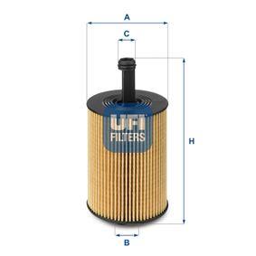 Маслен филтър UFI (25.023.00) за VW GOLF Цени