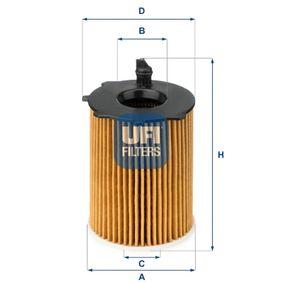Oil filter UFI (25.037.00) for MAZDA 2 Prices