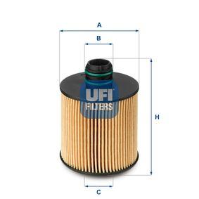 UFI Ölfilter (25.083.00) niedriger Preis
