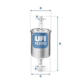 UFI LANCIA DEDRA Filtro carburante (31.515.00)