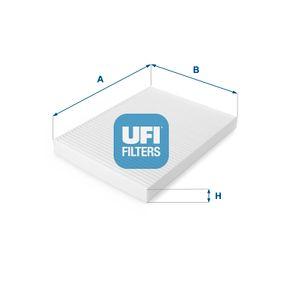UFI 53.006.00 Filter, Innenraumluft OEM - 1H0819644A AUDI, HONDA, SEAT, SKODA, VW, VAG, METELLI, JOHNS, DIEDERICHS, COMLINE, DENCKERMANN, STELLOX günstig