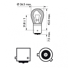AUDI A4 1.9 TDI 130 PS ab Baujahr 11.2000 - Blinkleuchten Glühlampe (12496NAB2) PHILIPS Shop