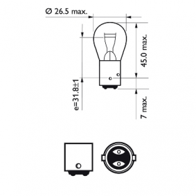 Heckleuchten Glühlampe 12594B2 PHILIPS