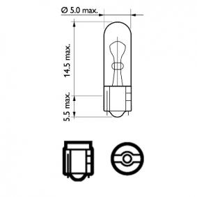 PHILIPS Glühlampe, Innenraumleuchte N0177512 für VW, AUDI, SKODA, SEAT, PORSCHE bestellen