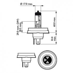 Крушка с нагреваема жичка, фар за дълги светлини 12475C1 онлайн магазин