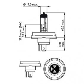 Glühlampe, Fernscheinwerfer 12475C1 Online Shop