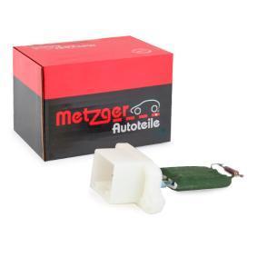 Widerstand, Innenraumgebläse METZGER Art.No - 0917029 OEM: 2S6H18B647AC für FORD kaufen