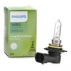 Крушка с нагреваема жичка, фар за дълги светлини (9012LLC1) от PHILIPS купете