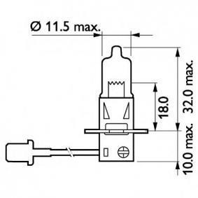13336MDC1 Glühlampe, Fernscheinwerfer von PHILIPS Qualitäts Ersatzteile