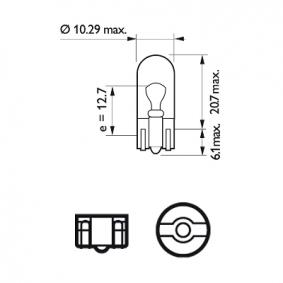 MEGANE III Coupe (DZ0/1_) PHILIPS Kennzeichenleuchten Glühlampe 12961LLECOCP