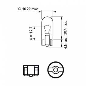 PHILIPS Number plate light bulb (12961LLECOCP)