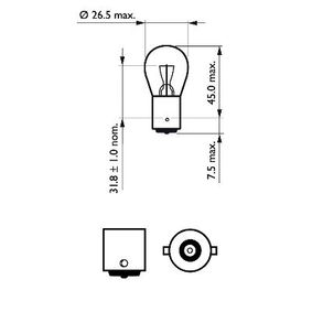 800 (XS) PHILIPS Крушка за светлини за движение назад 12498LLECOB2