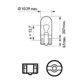 MEGANE III Coupe (DZ0/1_) PHILIPS Kennzeichenleuchten Glühlampe 12961LLECOB2