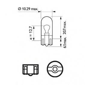 PUNTO (188) PHILIPS Number plate light bulb 12961LLECOB2