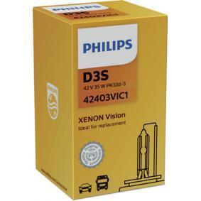 PHILIPS Крушка с нагреваема жичка, фар за дълги светлини (42403VIC1) на ниска цена