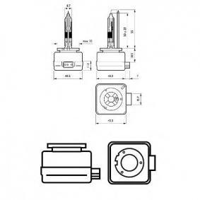 42306VIC1 Крушка с нагреваема жичка, фар за дълги светлини от PHILIPS качествени части