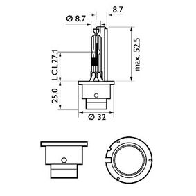 PHILIPS Крушка с нагреваема жичка, фар за дълги светлини 42406VIC1