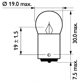 13821MLCP Bulb, indicator from PHILIPS quality parts