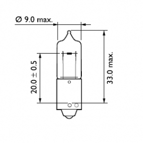 12146CP Bulb, indicator from PHILIPS quality parts