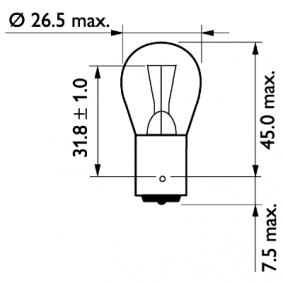 Glühlampe, Blinkleuchte 13498MDCP Online Shop