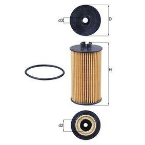 Astra H GTC (A04) MAHLE ORIGINAL Filtro de combustible OX 401D