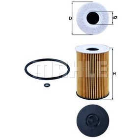 65055046000 für MAN, Ölfilter MAHLE ORIGINAL (OX 787D) Online-Shop