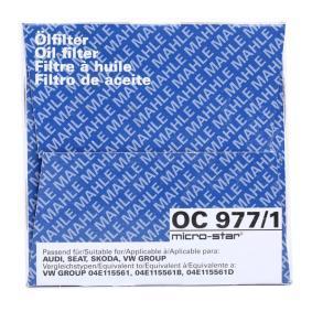 Ölfilter MAHLE ORIGINAL (OC 977/1) für VW GOLF Preise