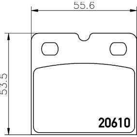 Bremsbelagsatz, Scheibenfeststellbremse HELLA Art.No - 8DB 355 005-301 OEM: 100346000B für TESLA kaufen