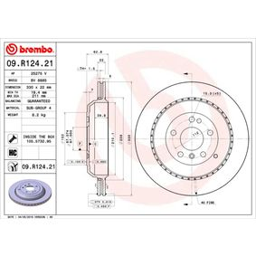Спирачен диск BREMBO Art.No - 09.R124.21 OEM: A1644231112 за MERCEDES-BENZ, DAIMLER купете
