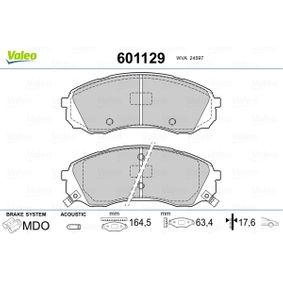 Bremsbelagsatz, Scheibenbremse VALEO Art.No - 601129 OEM: 581014DE00 für HYUNDAI, CITROЁN, KIA, AUSTIN kaufen