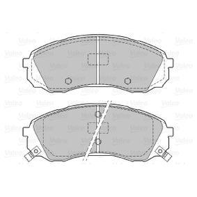 VALEO Bremsbelagsatz, Scheibenbremse 581014DE00 für HYUNDAI, CITROЁN, KIA, AUSTIN bestellen