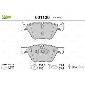 Bremsbelagsatz, Scheibenbremse VALEO Art.No - 601126 OEM: 34116777772 für BMW, ALPINA kaufen