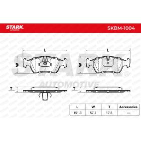 34212157575 für BMW, Bremsbelagsatz, Scheibenbremse STARK (SKBM-1004) Online-Shop