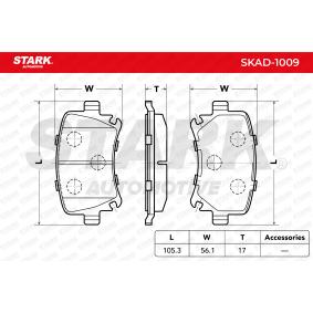1K0698451D für VW, AUDI, FORD, SKODA, SEAT, Bremsbelagsatz, Scheibenbremse STARK (SKAD-1009) Online-Shop