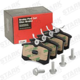 Megane III Hatchback (BZ0/1_) STARK Brake pad set disc brake SKAD-1023