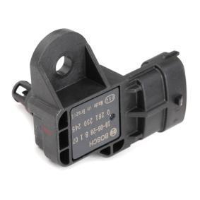 Popular Sensor, intake manifold pressure BOSCH 0 261 230 245 for FIAT PUNTO 1.2 16V 80 (188.233, .235, .253, .255, .333, .353, .639,... 80 HP
