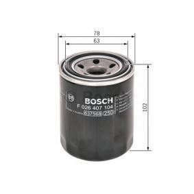 BOSCH Ölfilter (F 026 407 104) niedriger Preis