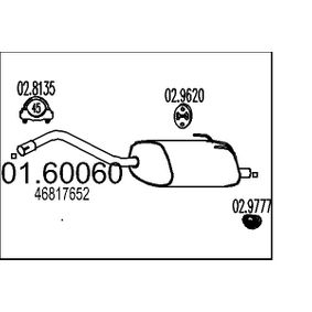 Muffler MTS (01.60060) for FIAT PANDA Prices