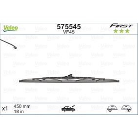 Wiper blades (575545) producer VALEO for FIAT PUNTO (188) year of manufacture 09/1999, 80 HP Online Shop